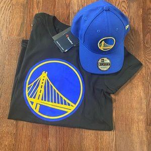 NWT Fanatics Golden State Warriors Shirt and Hat